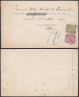 BELGIQUE COB 46+47 SUR RECU DE GEDINNE 06/10/1892 (DD) DC-1972 - 1884-1891 Léopold II