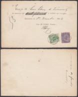 BELGIQUE COB 45+48 SUR RECU DE GEDINNE 02/12/1893 (DD) DC-1975 - 1884-1891 Léopold II