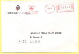 ITALIA - ITALY - ITALIE - 2002 - 0,41 EMA, Red Cancel - Comune Di Forlì - Viaggiata Da Forlì Per Lugo - Affrancature Meccaniche Rosse (EMA)