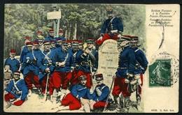 Soldats Français à La Frontière Franco-Allemande - Viaggiata 1908 - Rif. 07501 - Militaria