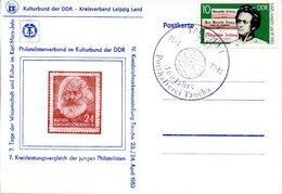 """(DDR-B2) DDR Sonderkarte """"Tage Der Wissenschaft U. Kultur Im Karl-Marx-Jahr"""", EF Mi 2783 SSt. 24.4.1983 TAUCHA 1 1 - Briefe U. Dokumente"""
