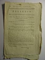 BULLETIN CONVENTION NATIONALE 1795 - RIVAUD ARMEE RHIN MOSELLE - PRISES PORT DE ROCHEFORT - VALENCIENNES - ASSIGNATS - Décrets & Lois