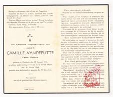 DP Notaris Camiel VandePutte ° Rumbeke Roeselare 1856 † 1940 - Images Religieuses