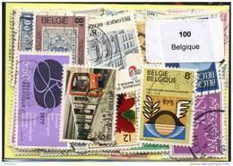 Lot 100 Timbres Belgique - Vrac (max 999 Timbres)