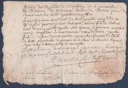 Vicaire Général De Monseigneur L'Archevêque De Tours Et Martin Curé De Sainte-Maure-de-Touraine.1764.généralité De Tours - Seals Of Generality