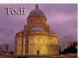 CARTOLINA CON FRANCOBOLLO - POSTCARD WITH STAMP - TODI 2008 - BASILICA S.M. DELLA CONSOLAZIONE - Chiese E Cattedrali