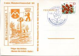 "(DDR-B2) DDR Sonderkarte ""Stadtbezirksfest MARZAHNER FRÜHLING"", EF Mi 2738, SSt. 14.5.1983 BERLIN-MARZAHN 1 - Briefe U. Dokumente"
