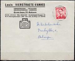 925 Met Stempel Gistel Op Briefvoorzijde - 1953-1972 Lunettes