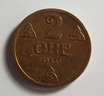 Norway 2 Ore 1933 Varnished - Norvège