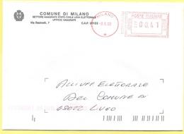 ITALIA - ITALY - ITALIE - 2002 - 0,41 EMA, Red Cancel - Comune Di Milano - Viaggiata Da Milano Per Lugo - Affrancature Meccaniche Rosse (EMA)