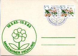 "(DDR-B2) DDR Sonderkarte ""Stadtbezirksfest MARZAHNER FRÜHLING"", MeF 2x Mi 2737, SSt. 14.5.1983 BERLIN-MARZAHN 1 - [6] République Démocratique"