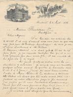 Canada - Montréal. Entête 6 Août 1896 -  The Windsor Hôtel.G.W.Swett.Manager. - Montréal - Factures & Documents Commerciaux