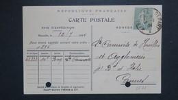 Carte Publicitaire Savon Frères & Cie Marseille 1924 Semeuse 130 Perforé SF 71 ( Ancoper ) - France