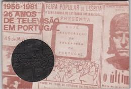 PORTUGAL MEDAL - 25 ANOS DE TELEVISÃO EM PORTUGAL - 1956/1981 - Professionals / Firms