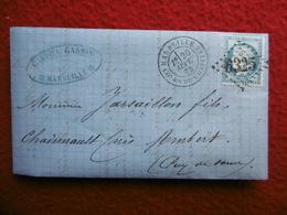 GC 6325 CACHET MARSEILLE CACHET MARSAC AMBERT MONTBRISON - 1849-1876: Classic Period