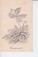 CP 1912 : Bouquet De Muguet Avec Un Trèfle à 4 Feuilles Humanisé ! - Nieuwjaar