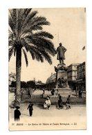 ALGERIE . BONE . Statue De Thiers Et Cours Bertagna - Otras Ciudades