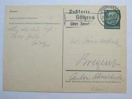 1941 ,  GÖTZENS über Innsbruck  , Klarer Stempel  Auf Karte - Briefe U. Dokumente