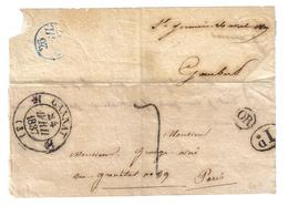 ALLIER C12 GANNAT 24 AVRIL 1837 TAXE TAMPON 7 ID OR: ST GERMAIN (DE SALLES) LETTRE AVEC TEXTE PARTIEL POUR PARIS - Marcophilie (Lettres)