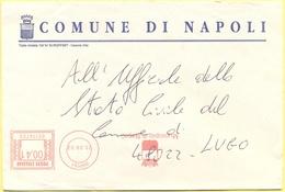 ITALIA - ITALY - ITALIE - 2002 - 00,41 EMA, Red Cancel - Comune Di Napoli - Viaggiata Da Napoli Per Lugo - Affrancature Meccaniche Rosse (EMA)