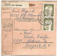 ALEMANIA WENINGS 1973 - Briefe U. Dokumente