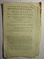 BULLETIN CONVENTION NATIONALE 1795 - ARMEE ITALIE SAMBRE ET MEUSE - DISCIPLINE MILITAIRE - ECHANGE PRISONNIERS DE GUERRE - Decrees & Laws