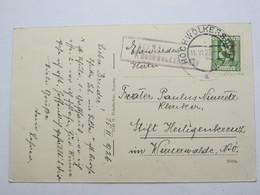 1925 , Schwarzenbach  P. Hochwolkersdorf  , Klarer Stempel  Auf Karte - Briefe U. Dokumente
