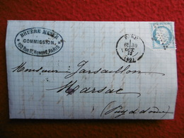 CACHET DE ROUTE PARIS ETOILE CACHET MARSAC AMBERT - Poststempel (Briefe)