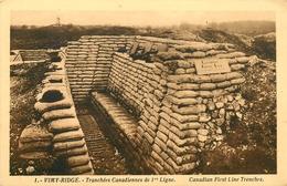 VIMY RIDGE TRANCHEES CANADIENNES DE 1ERE LIGNE - War 1914-18