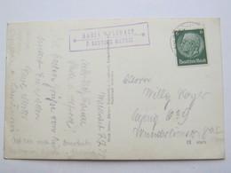 1938 , Maria Waldrast  P. Deutsch Matrei , Klarer Stempel  Auf Karte - Briefe U. Dokumente