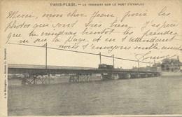 Le Touquet - Paris Plage - Le Tramway Sur Le Pont D'Etaples ( Carte Précurseur ) - Le Touquet