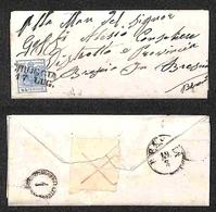 ANTICHI STATI - LOMBARDO VENETO - Croce (in Rosso) Angolo Di Foglio - Applicata Come Chiudilettera Al Retro Di Letterina - Stamps
