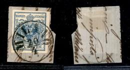 ANTICHI STATI - LOMBARDO VENETO - 1855 - 45 Cent (12) Usato Su Frammento - Milano 20/4 - Timbres