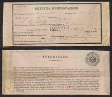 ANTICHI STATI - LOMBARDO VENETO - Agordo 2.7.54 - Ricevuta D'Ispezione Per Belluno - Stamps
