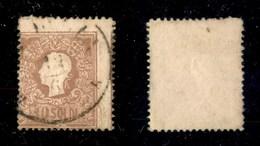 ANTICHI STATI - LOMBARDO VENETO - 1858 - 10 Soldi (26) Usato - Dentellature Spostate In Alto A Destra (parte Del Disegno - Timbres