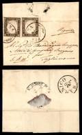 ANTICHI STATI - LOMBARDO VENETO - Governo Provvisorio - 28 Luglio 1859 - Piadena (P.ti R1) - Coppia Orizzontale Del 10 C - Timbres