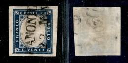ANTICHI STATI - LOMBARDO VENETO - Canonica (P.ti 10) - 20 Cent (15B - Sardegna) - Stamps