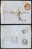 ANTICHI STATI - LOMBARDO VENETO - 5 Soldi (33) - Letterina Da Mantova A Milano Del 25.7.61 - Ambulante Desenzano Al Retr - Stamps