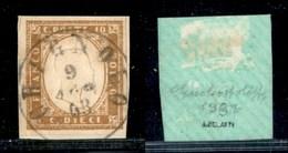 ANTICHI STATI - LOMBARDO VENETO - Chignolo (P.ti 9) - 10 Cent (14E - Sardegna) Usato Su Frammento - Timbres