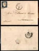 ANTICHI STATI - LOMBARDO VENETO - Milano 11 Apr. 60 - 20 Cent (15Ca - Sardegna) Su Lettera Per Livorno - Stamps