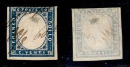 ANTICHI STATI - LOMBARDO VENETO - Grafico A Penna Con Data 20/8.60 - 20 Cent (15Ca - Sardegna) Corto In Basso E Assottig - Timbres