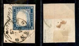 ANTICHI STATI - LOMBARDO VENETO - Ardenno (P.ti 7) - 20 Cent (15Dc - Sardegna) Su Frammento - Doppia Stampa Parziale Del - Timbres