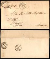 ANTICHI STATI - LOMBARDO VENETO - Capriano (P.ti 5) - Piego In Franchigia Per Monza Del 2.12.61 - Stamps