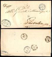 ANTICHI STATI - LOMBARDO VENETO - Cologno Berg. (azzurro - P.ti 5) - Piego In Franchigia Per Ghisalba Del 14.8.62 - Stamps