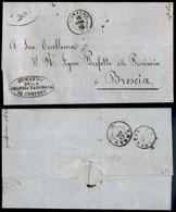 ANTICHI STATI - LOMBARDO VENETO - Corteno (P.ti 5) - Lettera In Franchigia Per Brescia Del 15.4.62 - Timbres