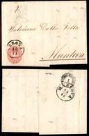 ANTICHI STATI - LOMBARDO VENETO - 5 Soldi (38) - Lettera Da Verona A Mantova Del 15.11.63 (150) - Timbres