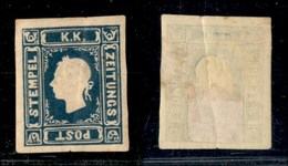 ANTICHI STATI - LOMBARDO VENETO - 1870 - Per Giornali - Ristampe - 1,05 Soldi (R26) Nuovo - Consuete Grinze Di Gomma - Timbres