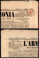 ANTICHI STATI - LOMBARDO VENETO - Segnatasse Per Giornali - 2 Kreuzer (3) Corto In Alto - Testata Di Giornale Da Venezia - Stamps