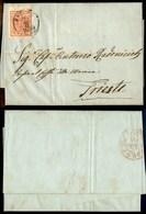 ANTICHI STATI - AUSTRIA TERRITORI ITALIANI - Fiume 9.6.1850 - 3 Kreuzer (3) Con Linee Di Spazio Tipografico In Basso - L - Timbres