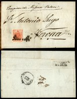 ANTICHI STATI - AUSTRIA TERRITORI ITALIANI - Riva (P.ti 4) - 3 Kreuzer (3) Su Lettera Per Verona Del 22.12.50 - Stamps